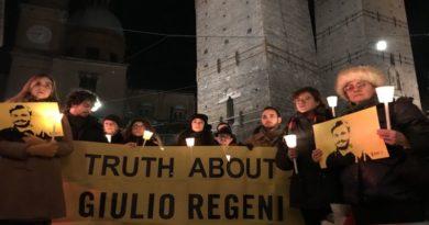 Verità per Regeni fiaccolata a Bologna a 3 anni dalla sua scomparsa