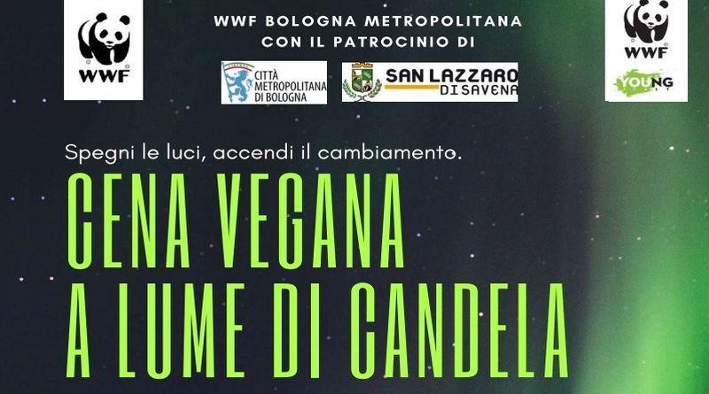 Cena vegana a lume di candela spegni le luci accendi il cambiamento