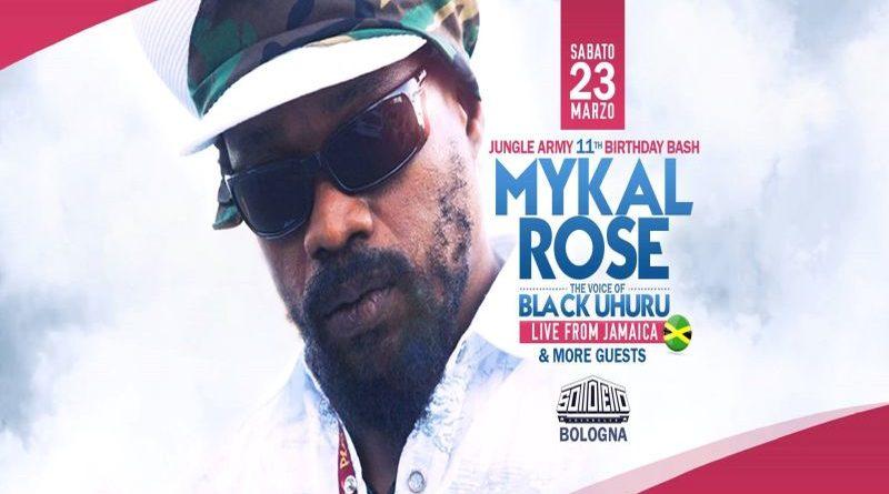 Michael Rose al Sottotetto Sound Club di Bologna sabato 23 marzo