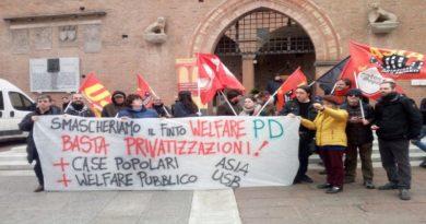 presidio contro i 3 giorni sul welfare a Bologna