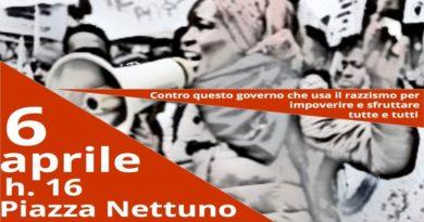 Manifestazione 6 aprile contro il razzismo del governo