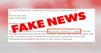 fake news coronavirus scuole emilia romagna