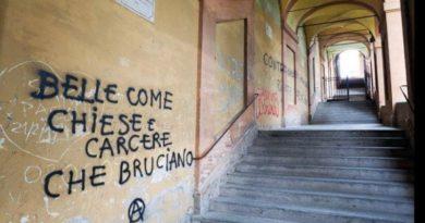 scritte sui muri San luca bologna