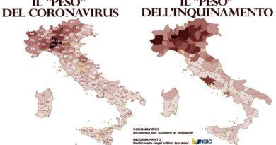 mappa inquinamento coronavirus covid19