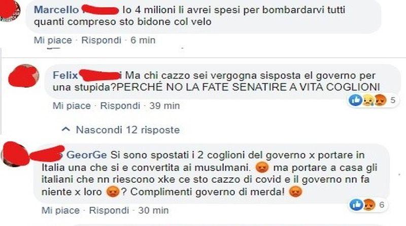 odio social facebook bologna cerco lavoro silvia romano