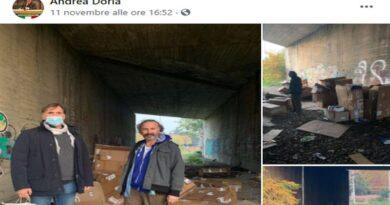 doria senzatetto casalecchio reno bologna propaganda migranti razzismo