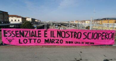 femministe striscione 8 marzo bologna nonunadimeno