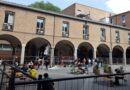 """Studenti del CUA aprono le transenne in piazza Scaravilli e formano una """"Piazza studio"""""""