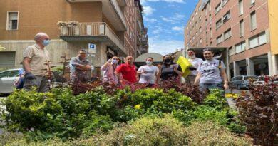 Via Mascarella si rifà il look con piante e fiori lungo il portico, l'iniziativa del Comitato Borgo Nuovo Mascarella