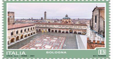 francobollo ppste bologna piazza maggiore